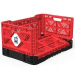 BIGANT Heavy Duty Collapsible Milk Crate