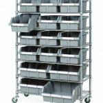 Seville Classics 7 Shelf Commercial Bin Rack System