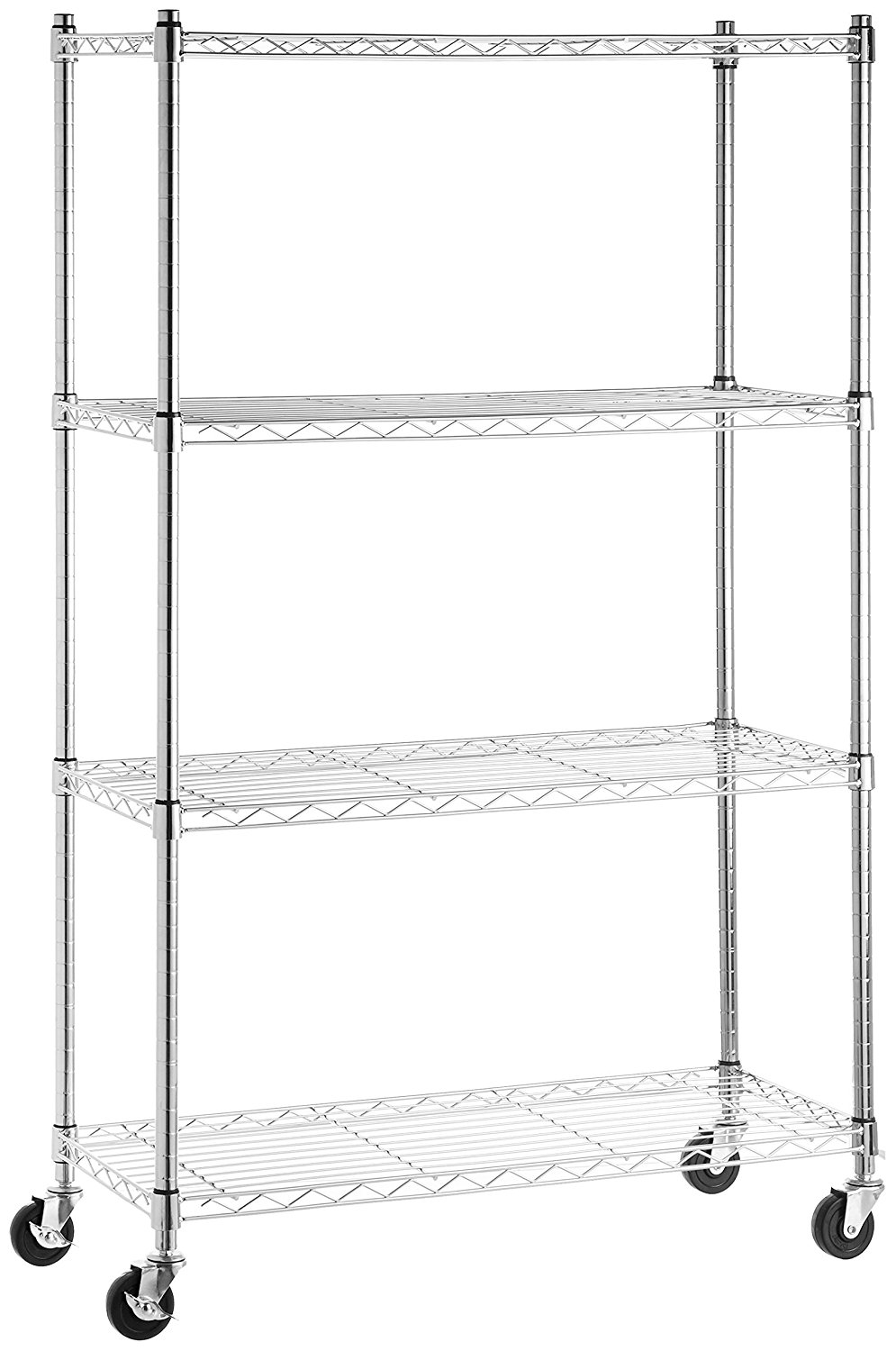 AmazonBasics 4-Shelf Shelving Unit on 3'' Casters